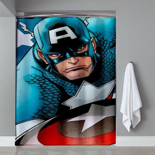 Cheap Captain America Avanger Shower Curtain | Shower Curtain ...