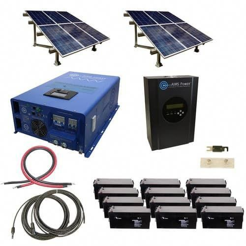 2880 Watt Off Grid Solar Kit With Solar Rack And 10000 Watt Power Inverter Charger 120 240 48 Volt Solarpanels So In 2020 Solar Kit Solar Energy Panels Solar Panels