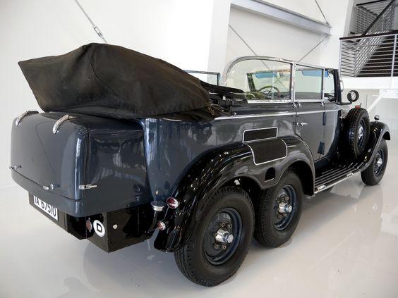 Der fuehrer mobile 6 wheel drive cabriolet hitler mobile for Six wheel mercedes benz