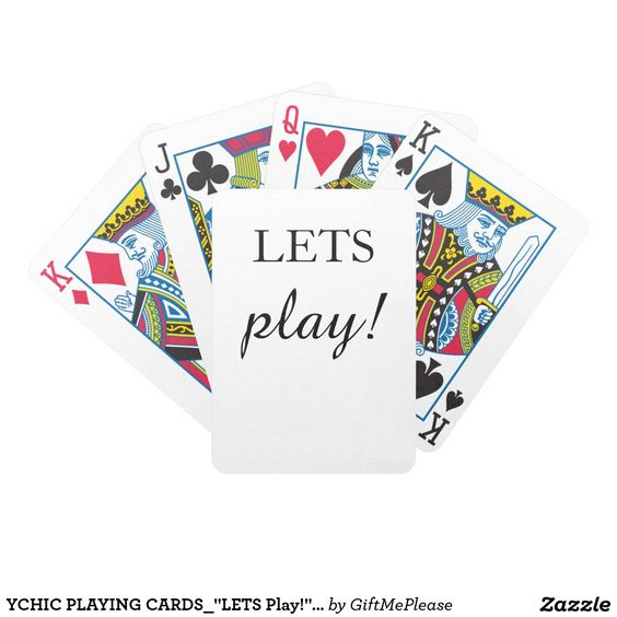 """YCHIC PLAYING CARDS_""""LETS Play!""""_DIY COLOR Bicycle Playing Cards"""