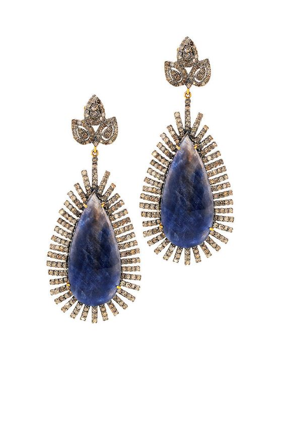 Graziela Sapphire Earrings  With shine so strong, it's easy to tell why some blues are called royal.  $6,100;