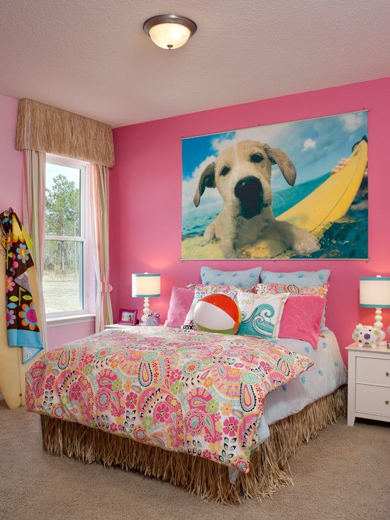Heres an idea that you can change in your house just to - Beach themed bedroom for teenager ...