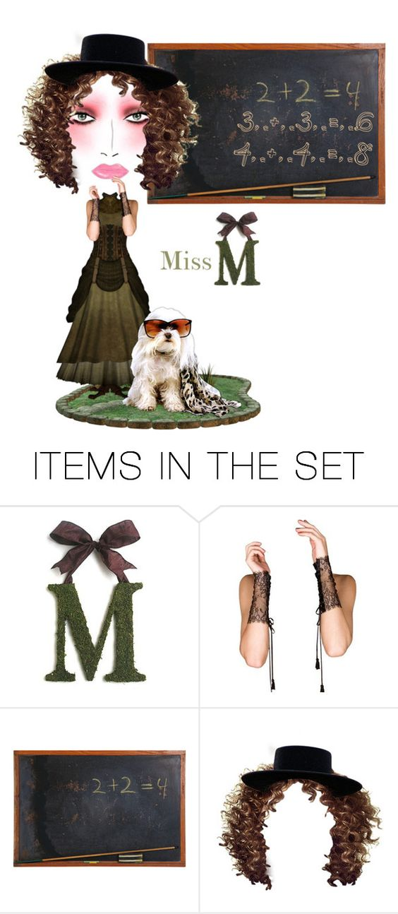 """Odd Face... Miss M"" by maryv-1 ❤ liked on Polyvore featuring art"