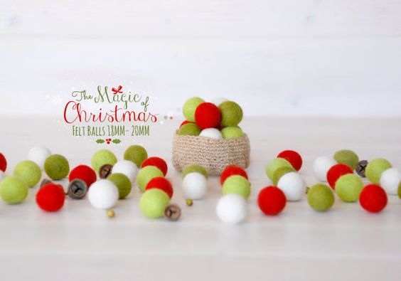 Hey, I found this really awesome Etsy listing at https://www.etsy.com/listing/156807364/christmas-felt-balls-100-wool-felt-balls