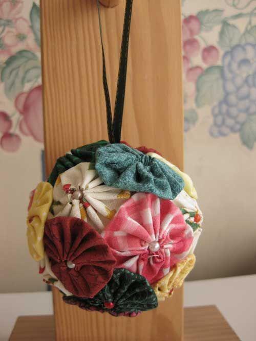 Yo yo ornaments and christmas ornament on pinterest for Yo yo patterns crafts
