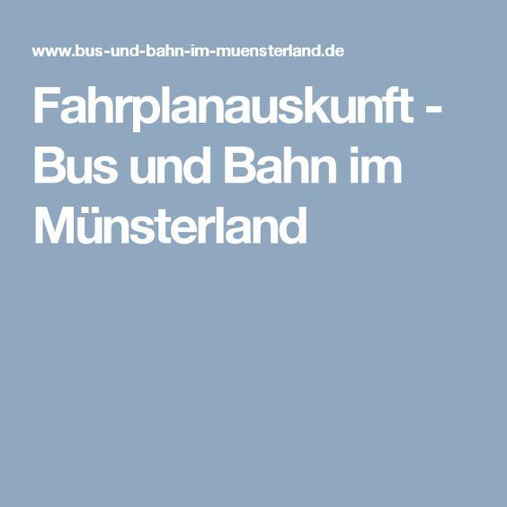 Fahrplanauskunft - Bus und Bahn im Münsterland