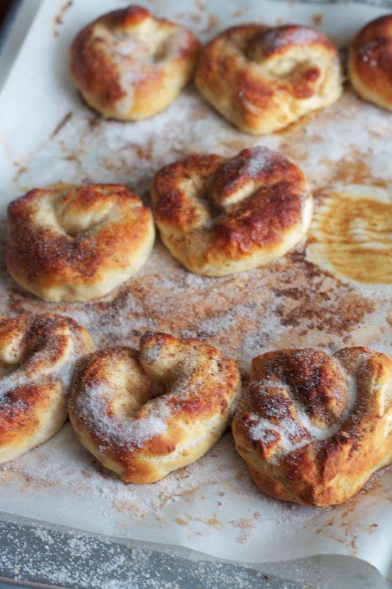 cinnamon and sugar pretzels.
