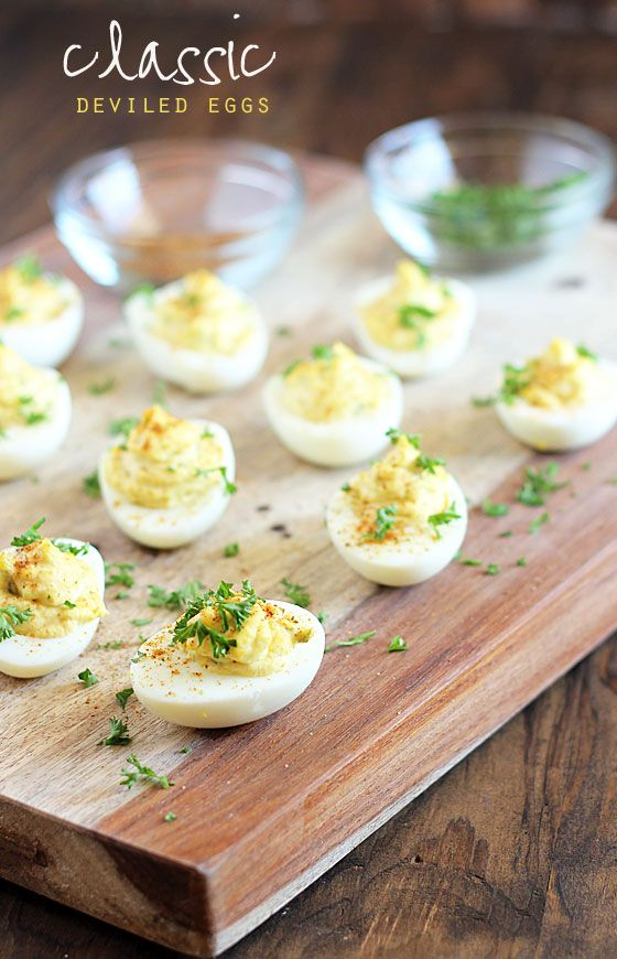 Classic deviled eggs deviled eggs and easy holiday for Appetizer recipes easy party appetizers