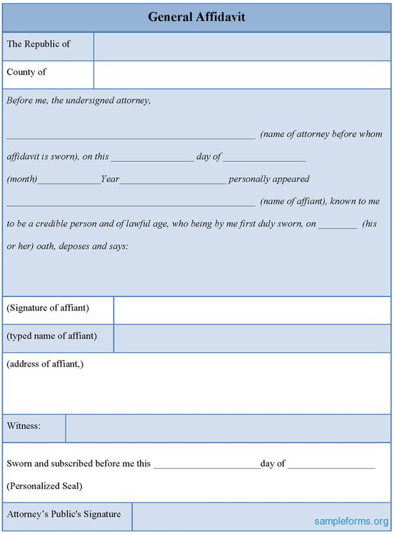 General Affidavit Form #general #affidavit #form Affidavit Forms - affidavit form in pdf