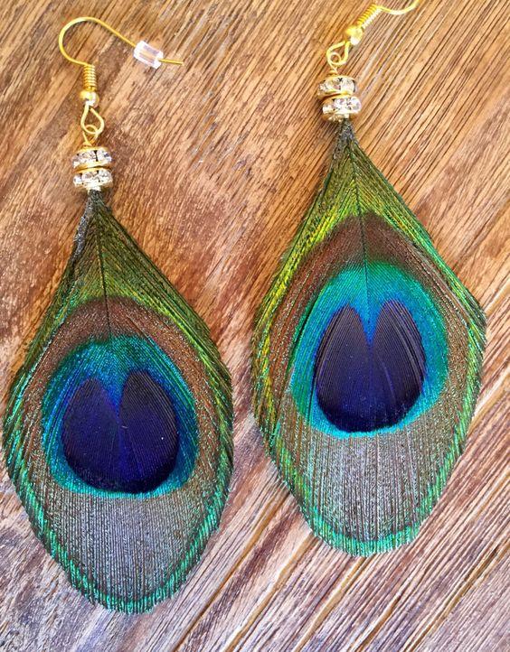 #wildermans handmade #peacock #featherearrings #etsy