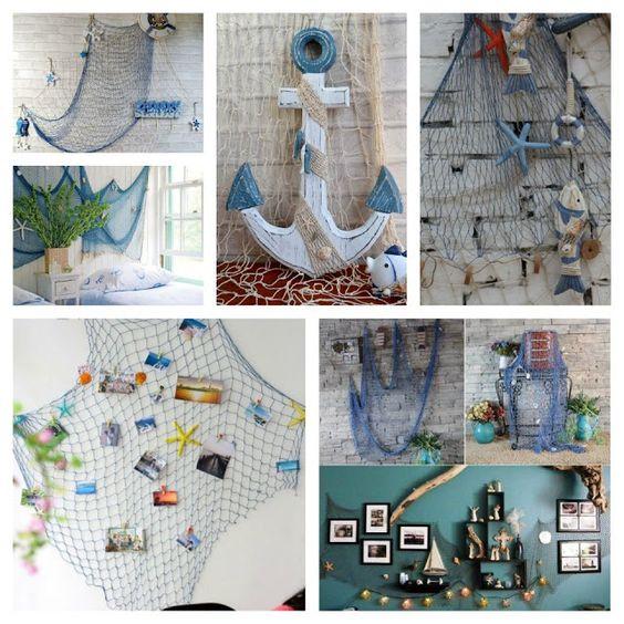 Fisherman nets - 35 ideas for a wonderful sea decoration