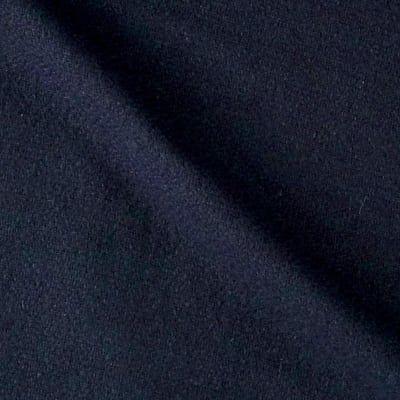 Solid Waffle Plush Wool Blend Coating Navy