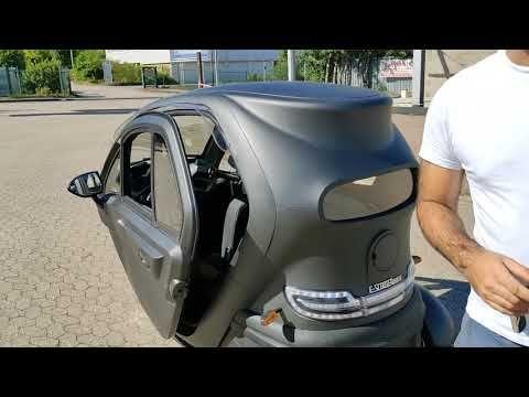 Kabinenroller Futura 2 45 Km H 60 Km Reichweite Elektromobil Elektro Kabinenroller Youtube Auto