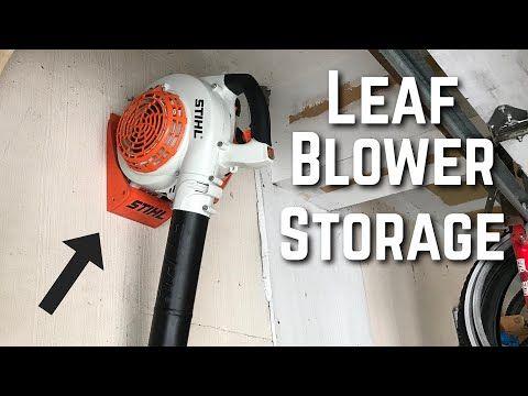 Custom Leaf Blower Storage Diy Garage Organization Home Decorations Closet Organization Diy Garage Diy Storage Custom Organizers