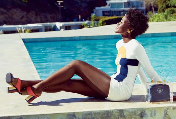 lupita nyong'o in lucky magazine. victoria, victoria beckham romper