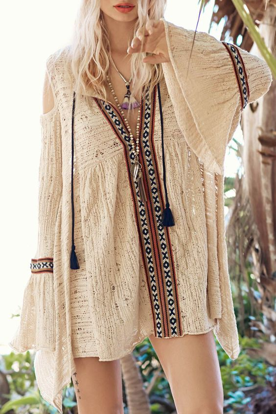 Pu Leather Spliced Long Sleeve Dress Sleeve Style And Hippies