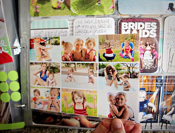 Clever way to include lots of photos of an event in a small space, in a Project Life album.