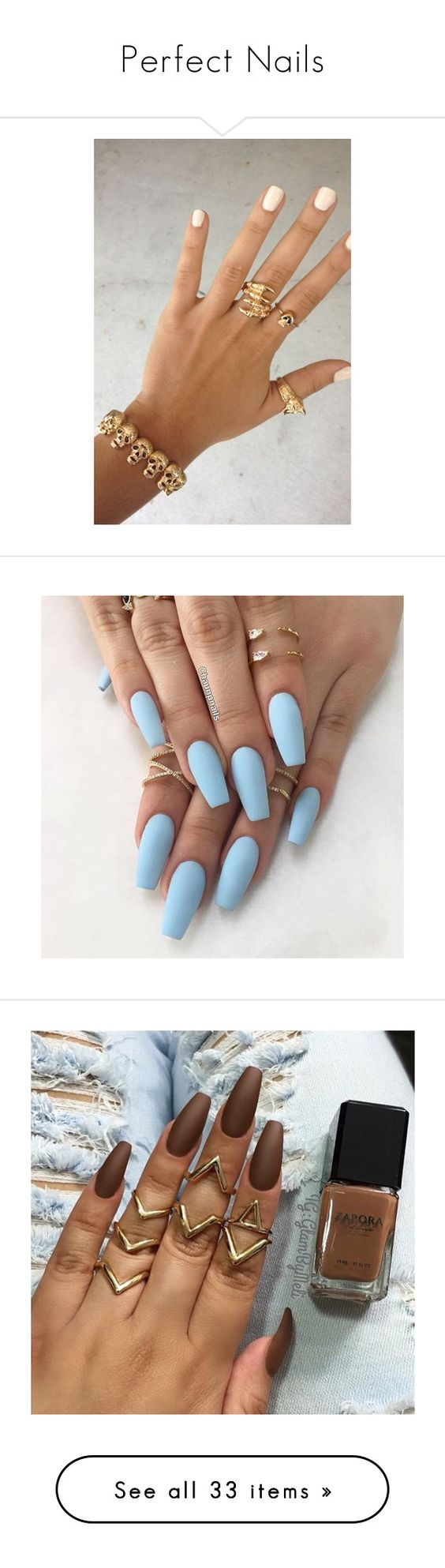 """""""Perfect Nails"""" by doggydoddyfroggymoppy ❤ liked on Polyvore featuring pictures, nails, photos, rings, sets., beauty products, nail care, nail treatments, beauty and makeup"""