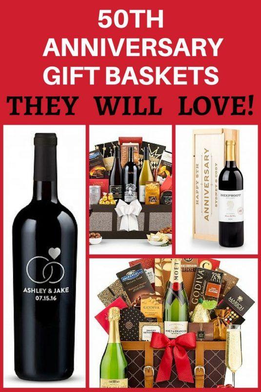 50th Wedding Anniversary Gifts Best Gift Ideas For A Golden Anniversary Anniversary Gift Baskets 50th Anniversary Gifts 50 Wedding Anniversary Gifts