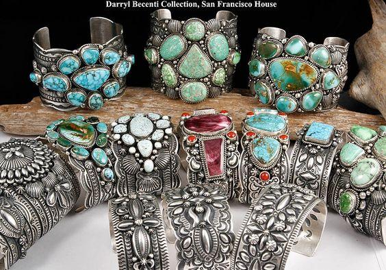 "Darryl Becenti ""Glory Hallelujah"" Bracelet Navajo Sterling Silver Turquoise | eBay"