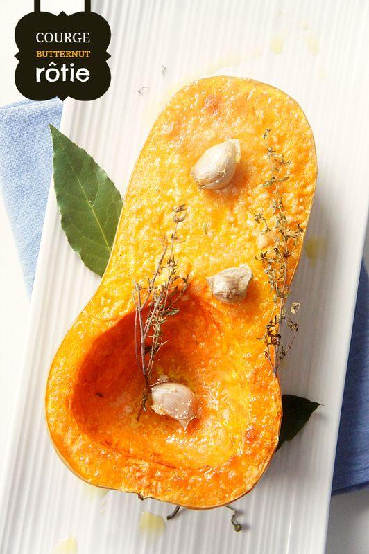 Courge butternut rôtie - parce que c'est tellement simple et tellement bon!