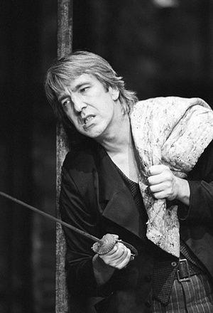 Alan Rickman as Hamlet in 1992.: