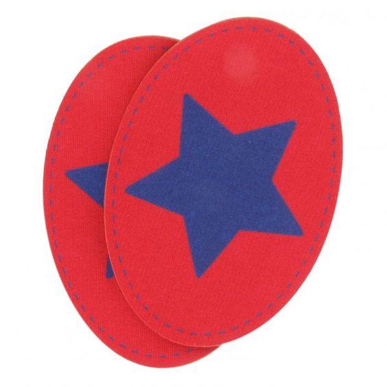 Coudières Genouillères étoile bleu électrique/rouge sweat
