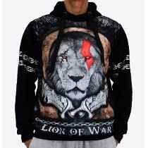Blusa De Frio Printfull Lion Of War Moleton Masculino