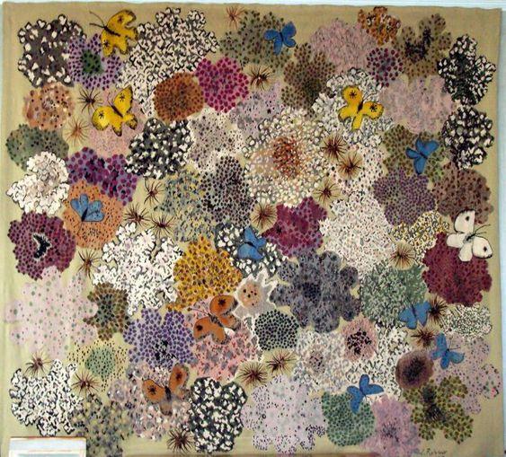Dom robert tapisserie tapis de pri re 1964 floral for Comment enlever de la tapisserie