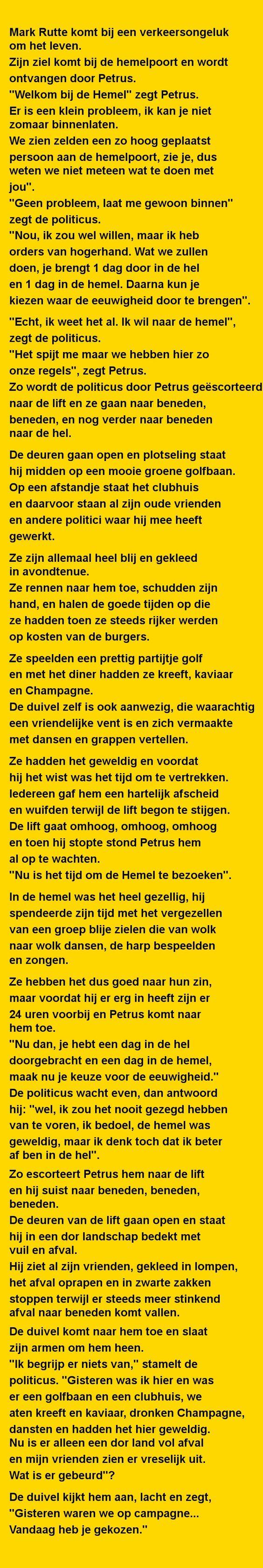 Mark Rutte komt bij een - Zieer.nl: