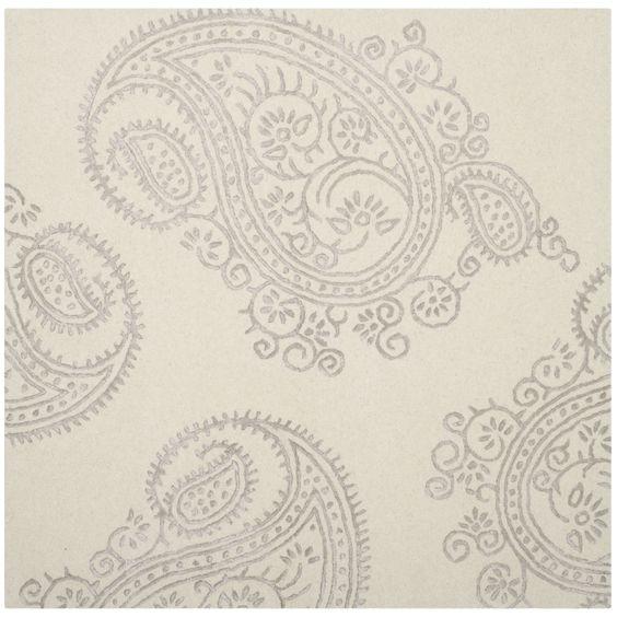 Safavieh Hand-Woven Bella Paisley Ivory/ Beige Wool Rug (5' Square) (BEL153B-5SQ), Size 5'
