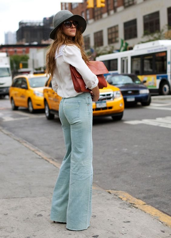 I will NEVER stop loving bell bottoms!  *(the hat is a bonus!) ;)