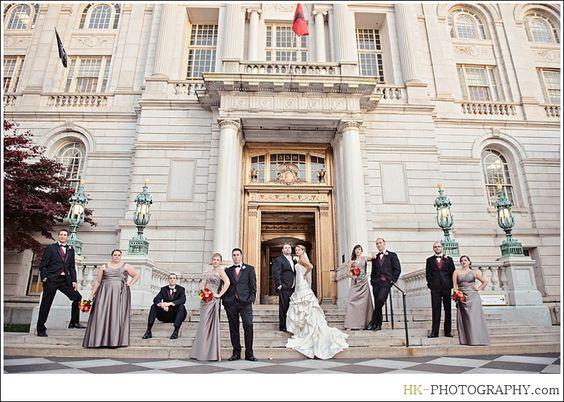 The Society Room of Hartford - CT Wedding photos, Hartford, CT: Portrait Location: Hartford City Hall, Meredith & Bryan Wedding Story - CT Modern Photojournalistic Style Wedding Photographers   Hubert and Alka Photographers   HK Photography