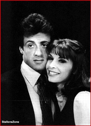 sly stallone photos | Sylvester Stallone, love, couple, b&w, cute, Rocky and Adrian, Rocky & Adrian