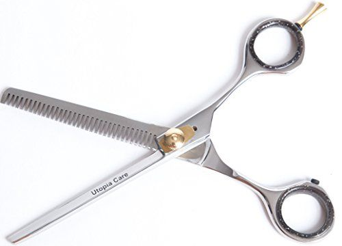 Utopia Care 6.5″ Professional Barber Thinning / Texturizing Scissors, Comfort Grip Triple Ring with Adjustable Tension and Finger Inserts, Sculpt and Layer Haircuts for Men and Women With These Professional Grade Texturizing Scissors, Easy to Disinfect, Resist Rust and Tarnish  http://www.thecoiffeur.com/utopia-care-6-5-professional-barber-thinning-texturizing-scissors-comfort-grip-triple-ring-with-adjustable-tension-and-finger-inserts-sculpt-and-layer-haircuts-for-men-and-women-with..
