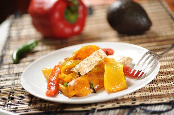 Pimientos a la mozzarella - Recetas de ensaladas - Como cocinar - Bell pepper with mozzarella