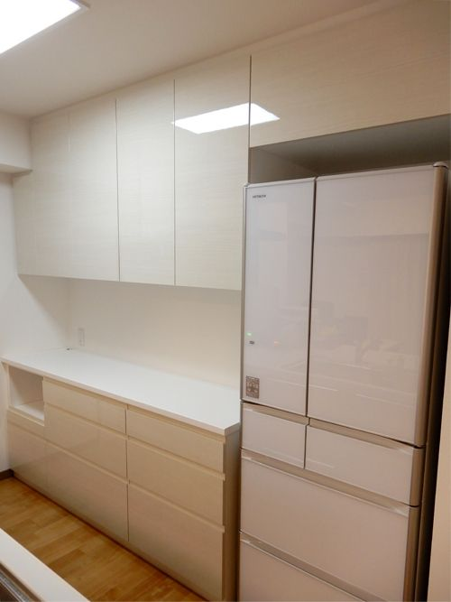 食器棚 サイズ W1850 370 500 H2350 冷蔵庫上部収納 サイズ W745