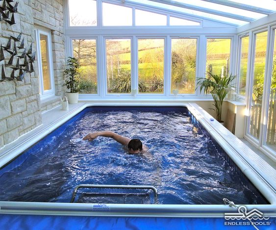 Original endless pool by endless pools tubs and pools for Indoor pool designs