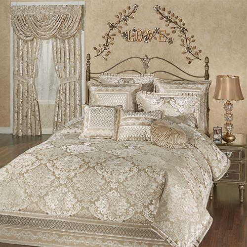 Luminous Damask Comforter Bedding Bed Linens Luxury Bed Linen Design Comforter Sets King sheet sets on sale
