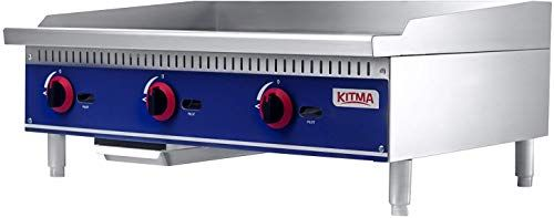 Best Seller Commercial Countertop Manual Griddle Kitma 36