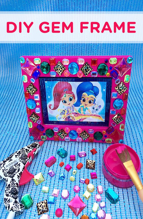 Shimmer and shine gem frame craft seasons crafts and for Shimmer and shine craft ideas