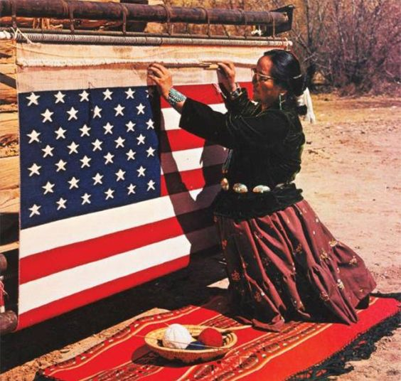 Sadie Curtis, Navajo weaver (Arizona Highways cover July 1976)