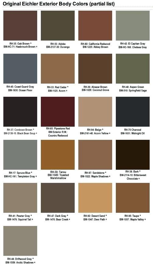 Mid Century Modern Exterior Paint Color Schemes What Were The Original Exterior Paint Colors S Exterior Paint Colors For House Brown Roofs Mid Century Exterior