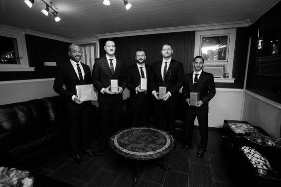 The Groomsmen in Vizcaya's Groom's Lounge before the wedding! Photo taken by Liz Zimbelman