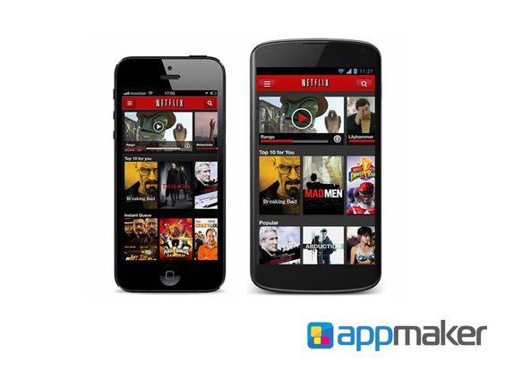APLICACIONES MÓVILES ¿Cuál sería un ejemplo de aplicación híbrida? APP MAKER TE INFORMA. Un claro ejemplo de una aplicación nativa seria Netflix, que tiene una aplicación híbrida que se ve prácticamente igual en un sistema operativo IOS que un Android. www.appmaker.mx