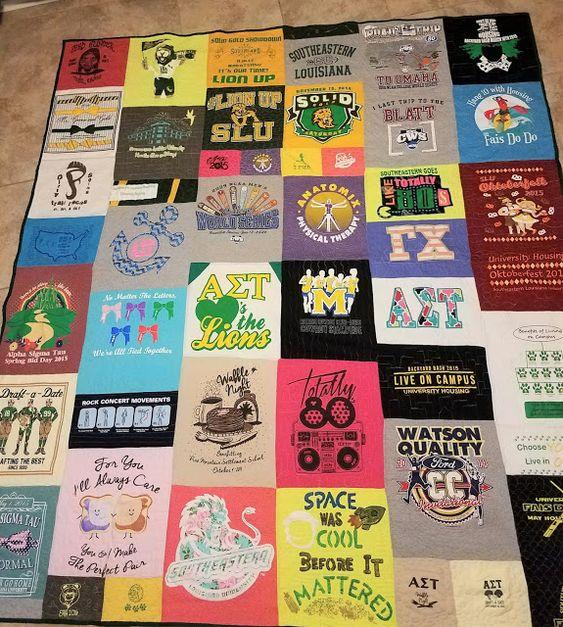 Fleur de Lis Quilts and Accessories: SLU Tee-shirt Quilt