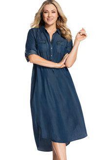 Sara Denim Shirt Dress Online | Shop EziBuy