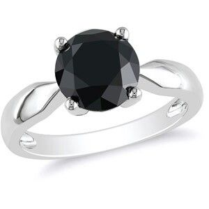 3ct black diamond in 10k white gold....i love the nontraditional black