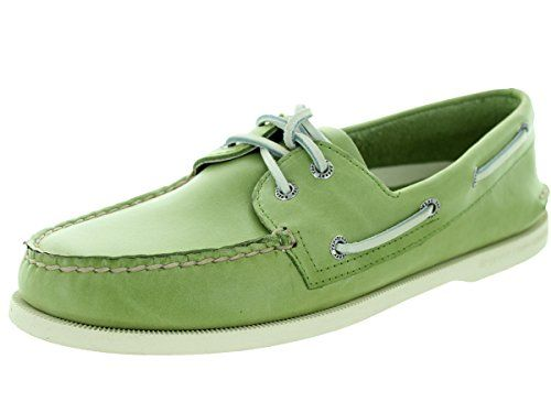 Sperry Men's Free Time Green Leather Top-Sider Boat Shoes