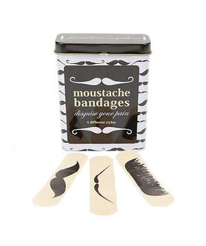 Birthday Gift Idea: Mustache Bandages ($7 for 25)